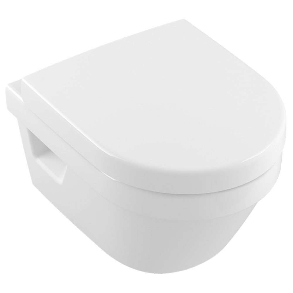 Set vas WC suspendat, rotund, cu capac soft close,quick release alb alpin, Villeroy-Boch, Arhitectura